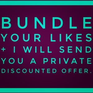 Bundle 1 or more items for a exclusive discount!